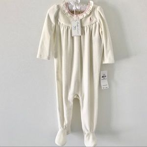 NWT Ralph Lauren Baby Girl Footie